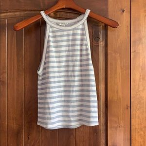 like-new AEO striped halter top
